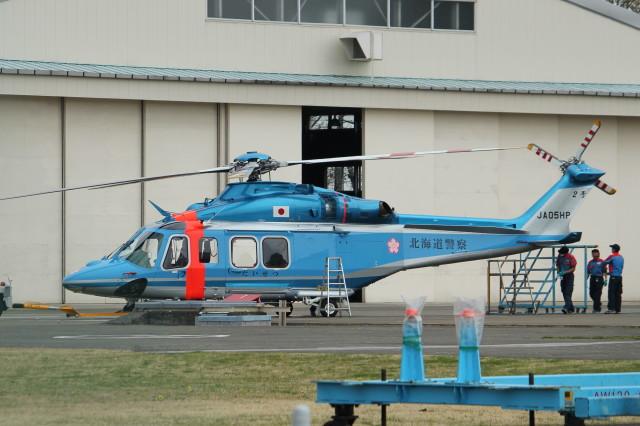 redarrowさんが、朝日航洋川越メンテナンスセンターで撮影した北海道警察 AW139の航空フォト(飛行機 写真・画像)
