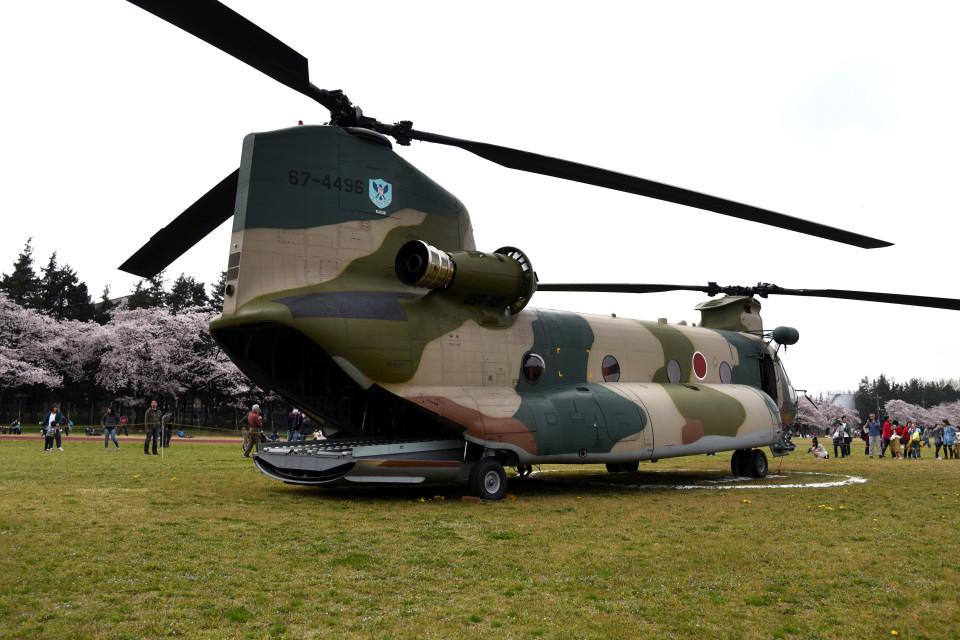 tsubasa0624さんの航空自衛隊 Kawasaki CH-47J Chinook (67-4496) 航空フォト