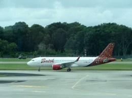 ぺペロンチさんが、シンガポール・チャンギ国際空港で撮影したバティク・エア A320-214の航空フォト(飛行機 写真・画像)