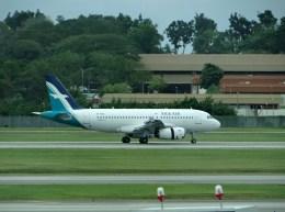 ぺペロンチさんが、シンガポール・チャンギ国際空港で撮影したシルクエア A319-133の航空フォト(飛行機 写真・画像)