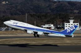 小牛田薫さんが、福島空港で撮影した全日空 747-481(D)の航空フォト(飛行機 写真・画像)