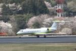 NRT_roseさんが、成田国際空港で撮影したプライベートエア G-V-SP Gulfstream G550の航空フォト(飛行機 写真・画像)