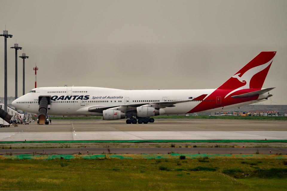 tsubasa0624さんのカンタス航空 Boeing 747-400 (VH-OJM) 航空フォト