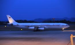 ふじいあきらさんが、広島空港で撮影したドイツ空軍 A340-313Xの航空フォト(飛行機 写真・画像)