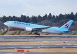 じーく。さんが、成田国際空港で撮影した大韓航空 777-2B5/ERの航空フォト(写真)