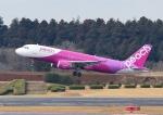 じーく。さんが、成田国際空港で撮影したピーチ A320-214の航空フォト(飛行機 写真・画像)