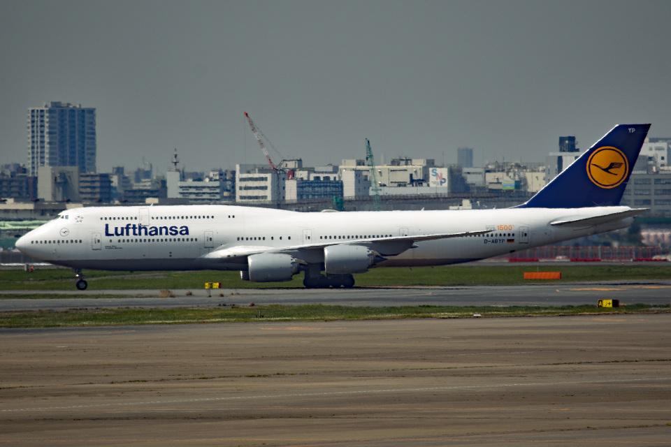 tsubasa0624さんのルフトハンザドイツ航空 Boeing 747-8 (D-ABYP) 航空フォト