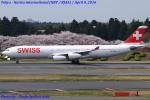 Chofu Spotter Ariaさんが、成田国際空港で撮影したスイスインターナショナルエアラインズ A340-313Xの航空フォト(写真)
