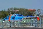 パンダさんが、成田国際空港で撮影した千葉県警察 206L-4 LongRanger IVの航空フォト(飛行機 写真・画像)