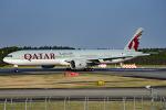 tsubasa0624さんが、成田国際空港で撮影したカタール航空 777-3DZ/ERの航空フォト(飛行機 写真・画像)