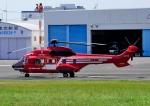 じーく。さんが、東京ヘリポートで撮影した東京消防庁航空隊 AS332L1の航空フォト(写真)
