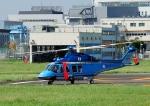 じーく。さんが、東京ヘリポートで撮影した警視庁 AW139の航空フォト(飛行機 写真・画像)