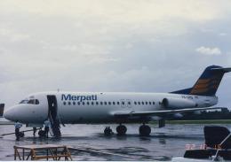 ひろえもんさんが、デンパサール国際空港で撮影したメルパチ・ヌサンタラ航空 F28-4000 Fellowshipの航空フォト(飛行機 写真・画像)