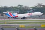 RUSSIANSKIさんが、シンガポール・チャンギ国際空港で撮影したラヤ・エアウェイズ 727-247/Adv(F)の航空フォト(写真)