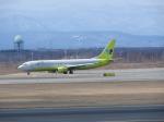 鬼の手さんが、新千歳空港で撮影したジンエアー 737-86Nの航空フォト(写真)