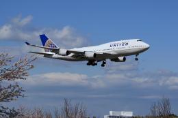 夏奈さんが、成田国際空港で撮影したユナイテッド航空 747-422の航空フォト(写真)