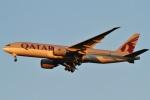 camelliaさんが、成田国際空港で撮影したカタール航空 777-2DZ/LRの航空フォト(写真)