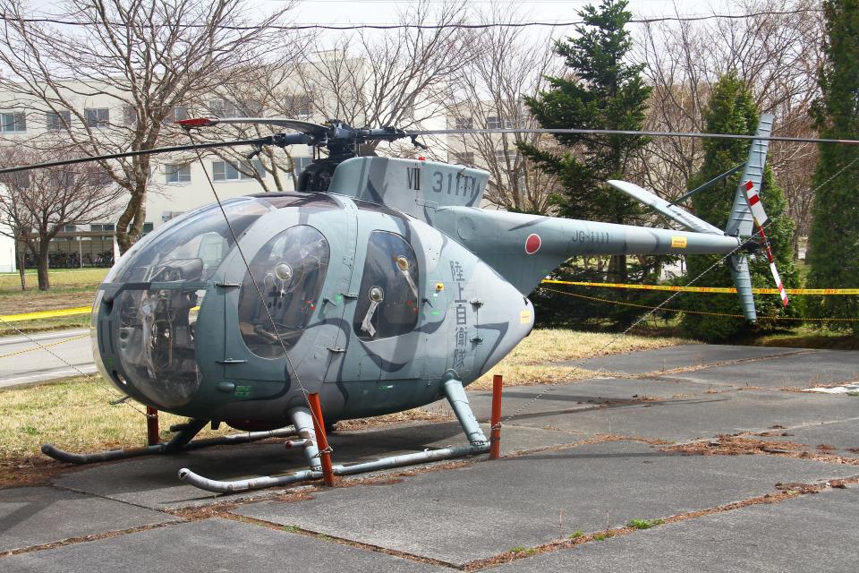 りんたろうさんの陸上自衛隊 Kawasaki OH-6J (31111) 航空フォト