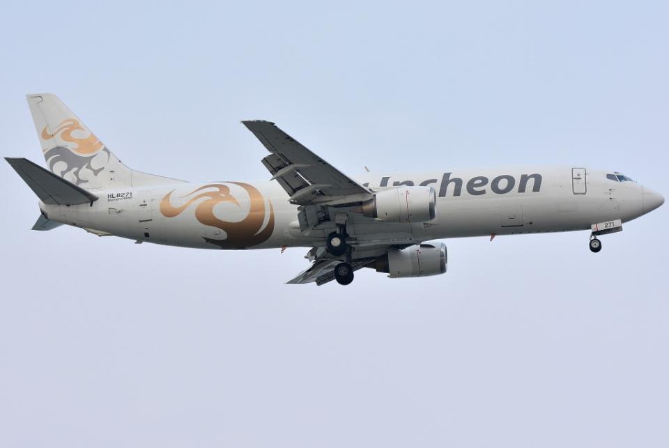 jun☆さんのエア・インチョン Boeing 737-400 (HL8271) 航空フォト