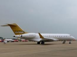 tohkuno563さんが、珠海金湾空港で撮影したボンバルディア・エアロスペース BD-700-1A10 Global Expressの航空フォト(飛行機 写真・画像)