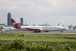 しかばねさんが、成田国際空港で撮影したヴァージン・アトランティック航空 A340-642の航空フォト(写真)