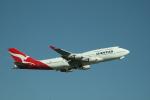 島国旅人さんが、シドニー国際空港で撮影したカンタス航空 747-438/ERの航空フォト(写真)