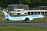 あしゅーさんが、福岡空港で撮影した大韓航空 737-9B5の航空フォト(飛行機 写真・画像)