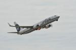 小弦さんが、オークランド国際空港で撮影したアラスカ航空 737-990/ERの航空フォト(写真)