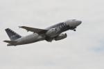 小弦さんが、オークランド国際空港で撮影したスピリット航空 A319-132の航空フォト(飛行機 写真・画像)
