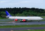じーく。さんが、成田国際空港で撮影したスカンジナビア航空 A340-313Xの航空フォト(写真)