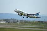 北の熊さんが、新千歳空港で撮影したエアプサン A320-232の航空フォト(飛行機 写真・画像)
