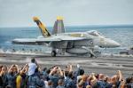 たーげっとさんが、USS George Washingtonで撮影したアメリカ海軍 F/A-18E Super Hornetの航空フォト(飛行機 写真・画像)