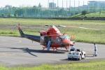 あきらっすさんが、調布飛行場で撮影した富山県消防防災航空隊 412EPの航空フォト(写真)
