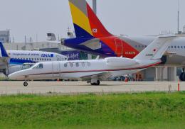 hiro801さんが、米子空港で撮影した国土交通省 航空局 525C Citation CJ4の航空フォト(飛行機 写真・画像)