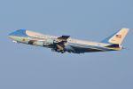 うめやしきさんが、横田基地で撮影したアメリカ空軍 VC-25A (747-2G4B)の航空フォト(飛行機 写真・画像)