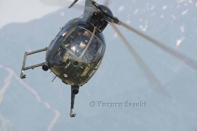 ゆずっちさんが、新発田駐屯地で撮影した陸上自衛隊 OH-6Dの航空フォト(飛行機 写真・画像)
