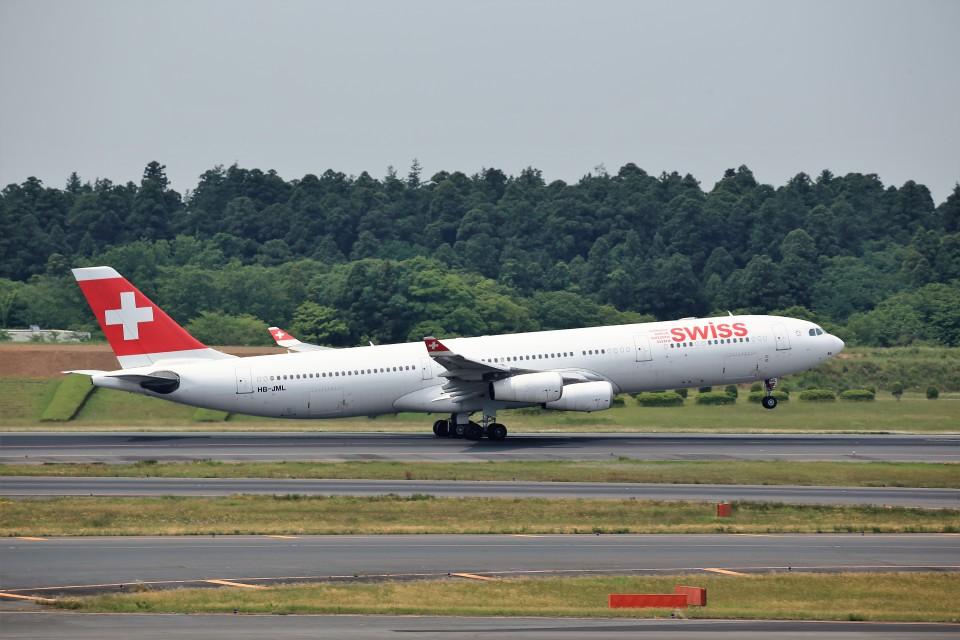 T.Sazenさんのスイスインターナショナルエアラインズ Airbus A340-300 (HB-JML) 航空フォト