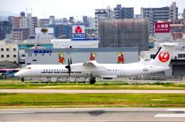 まいけるさんが、福岡空港で撮影した日本エアコミューター DHC-8-402Q Dash 8の航空フォト(写真)