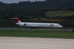 しかばねさんが、隠岐空港で撮影した日本航空 MD-90-30の航空フォト(飛行機 写真・画像)