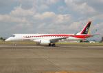 仙人2016さんが、名古屋飛行場で撮影した三菱航空機 MRJ90STDの航空フォト(写真)