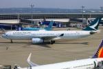 Kuuさんが、中部国際空港で撮影したキャセイパシフィック航空 A330-343Xの航空フォト(飛行機 写真・画像)