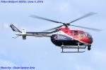 Chofu Spotter Ariaさんが、東京ヘリポートで撮影したザ・フライングブルズ Bo 105CBS-5の航空フォト(飛行機 写真・画像)