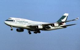 木人さんが、成田国際空港で撮影したキャセイパシフィック航空 747-467の航空フォト(飛行機 写真・画像)