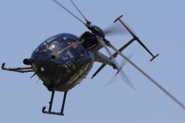 黄色の168さんが、真駒内駐屯地で撮影した陸上自衛隊 OH-6Dの航空フォト(飛行機 写真・画像)