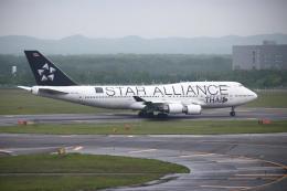 夏奈さんが、新千歳空港で撮影したタイ国際航空 747-4D7の航空フォト(写真)
