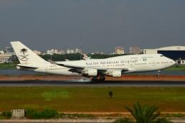 RUSSIANSKIさんが、シャージャラル国際空港で撮影したサウジアラビア航空 747-412の航空フォト(写真)