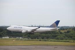 ばんぶーふたんさんが、成田国際空港で撮影したユナイテッド航空 747-422の航空フォト(飛行機 写真・画像)