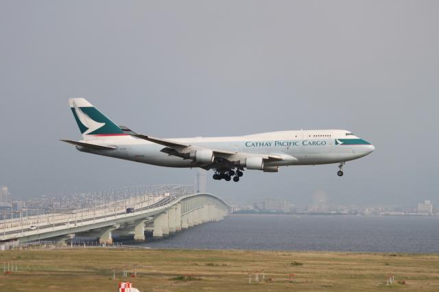 職業旅人さんが、関西国際空港で撮影したキャセイパシフィック航空 747-412(BCF)の航空フォト(飛行機 写真・画像)