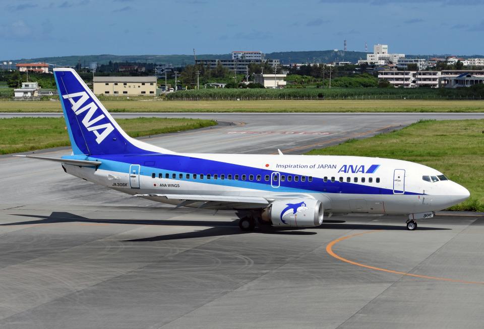 tsubasa0624さんのANAウイングス Boeing 737-500 (JA306K) 航空フォト