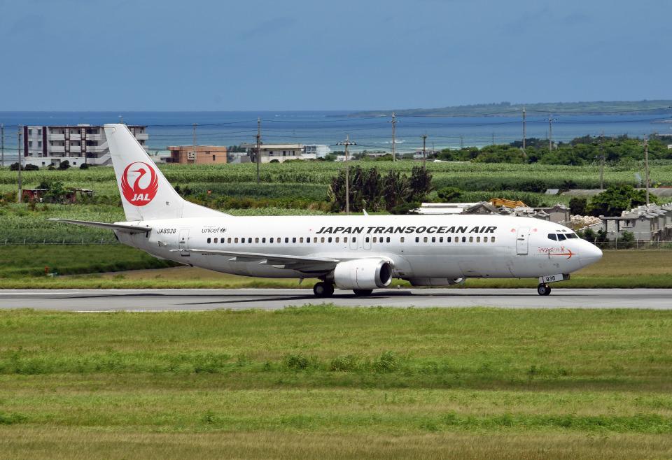 tsubasa0624さんの日本トランスオーシャン航空 Boeing 737-400 (JA8938) 航空フォト